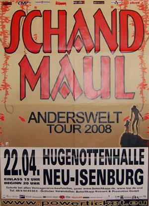 Schandmaul-Poster Neu Isenburg - 22.04.2008