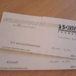 Unsere Eintrittskarten